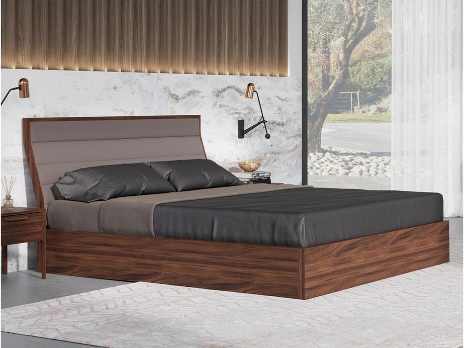 Mod Interiors кровать 180х200 c подъемным механизмом (орех) Ronda