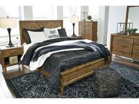Ashley кровать двуспальная  (коричневый) Broshtan