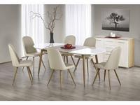 Halmar стол обеденный раскладной (белый, дуб медовый) Edward