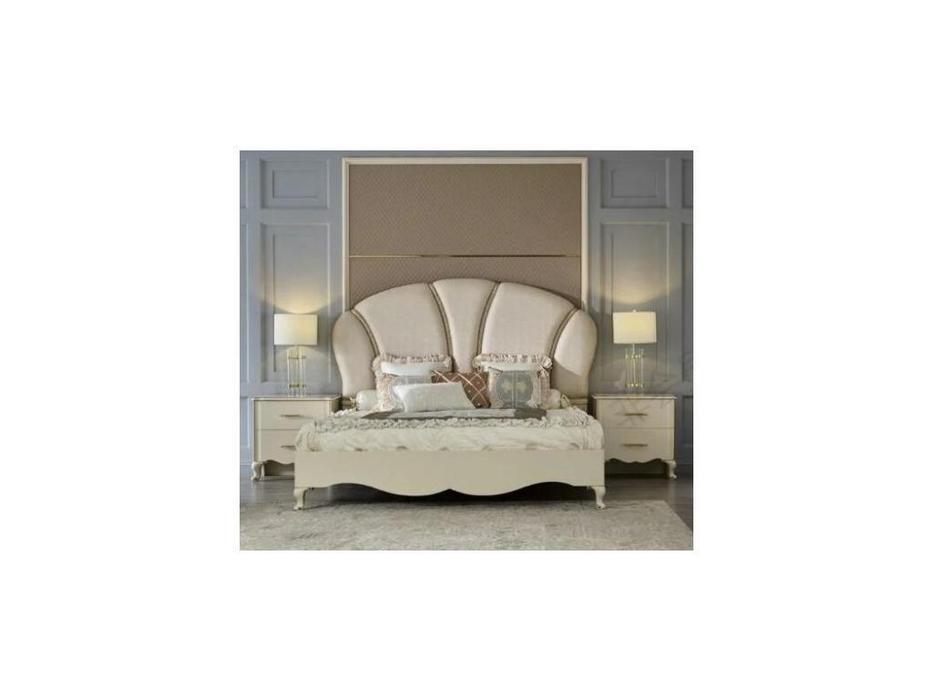 FurnitureCo спальня барокко  (крем) Liberty