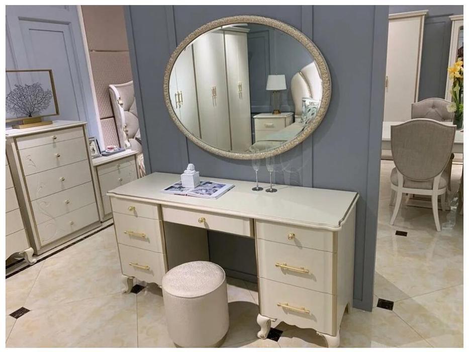 FurnitureCo стол туалетный  зеркалом (крем) Liberty