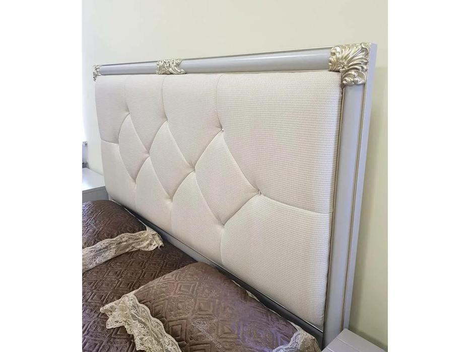 FurnitureCo кровать двуспальная  180х200 (жемчуг) Stella