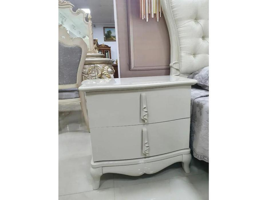 FurnitureCo тумба прикроватная  (жемчуг) Penelopa