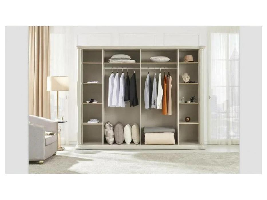 FurnitureCo шкаф 6 дверный  (жемчуг) Penelopa
