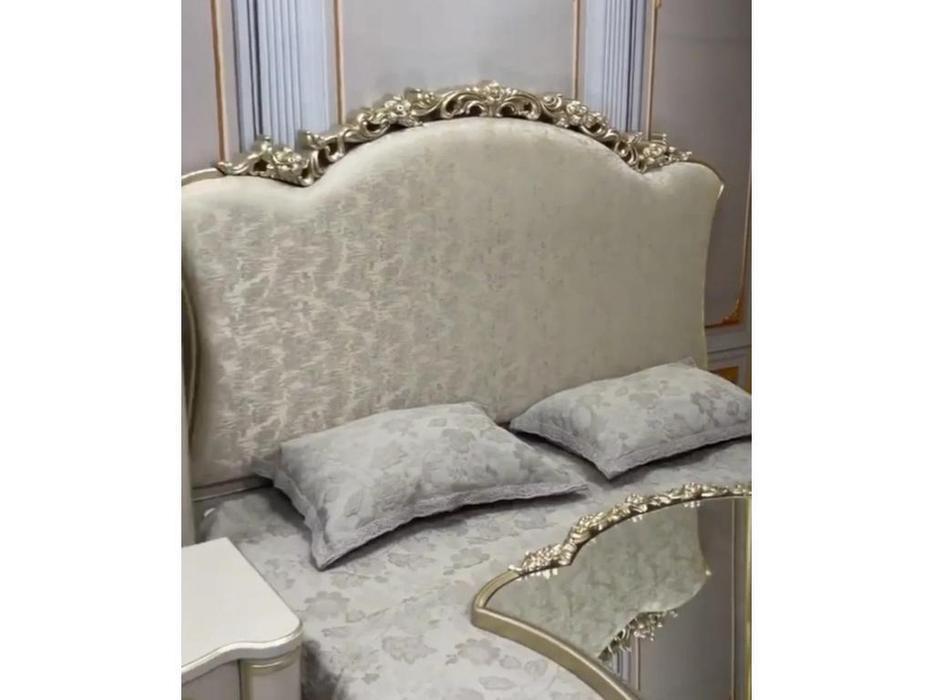 FurnitureCo кровать двуспальная 180х200 (крем) Paola