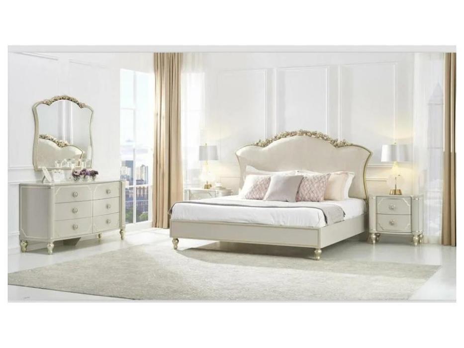 FurnitureCo спальня барокко  (крем) Paola