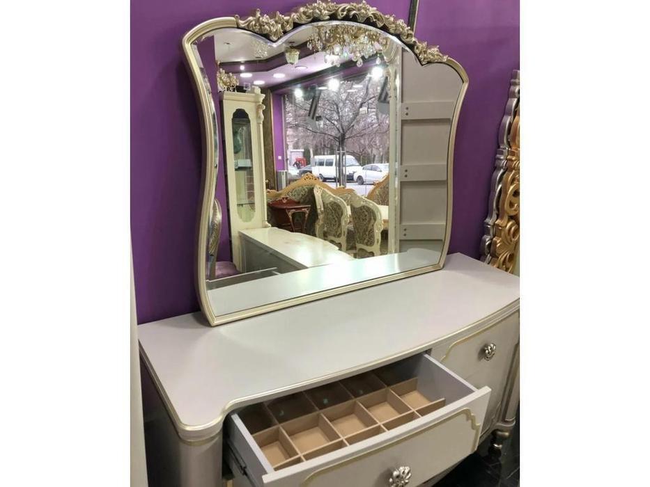 FurnitureCo комод с зеркалом (крем) Paola