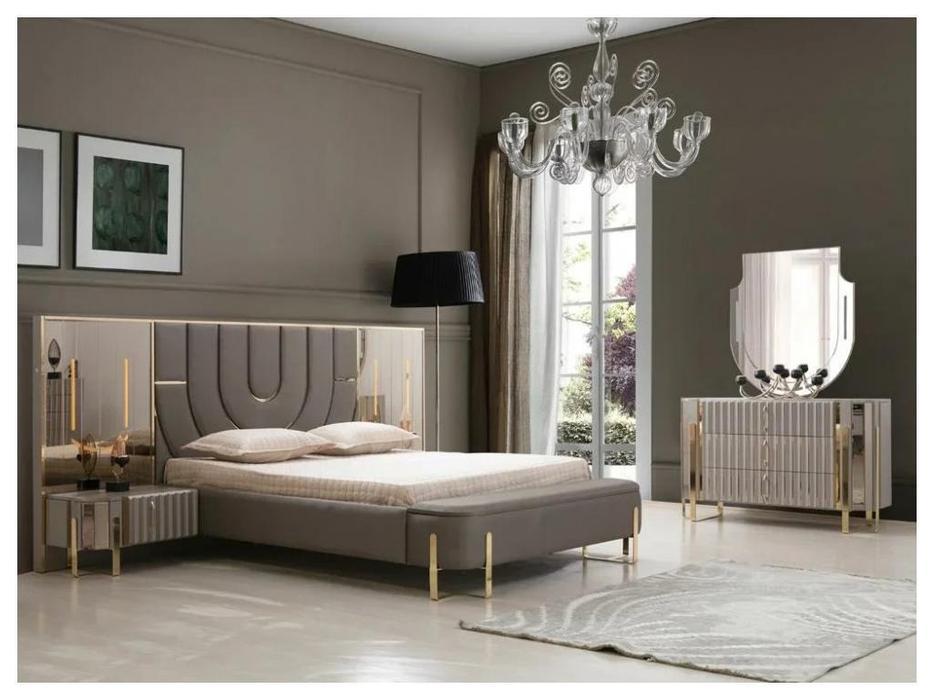 FurnitureCo спальня барокко комната (серый) Luxury