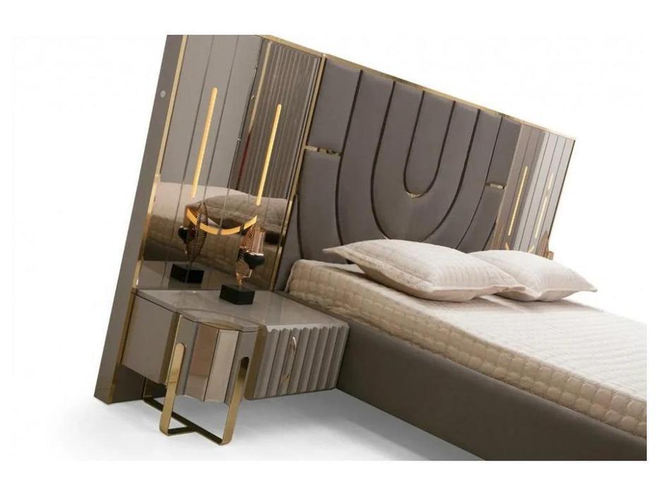 FurnitureCo тумба прикроватная  (серый) Luxury