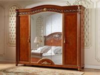 FurnitureCo шкаф 5 дверный с зеркалом (орех) Атанасия