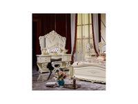 FurnitureCo стол туалетный с зеркалом (слоновая кость) Мирелла шарм