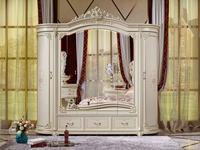 FurnitureCo шкаф 6 дверный  (слоновая кость) Мирелла шарм