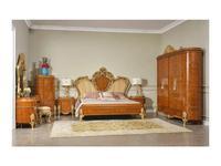 FurnitureCo спальня барокко  (орех светлый) Беатриче