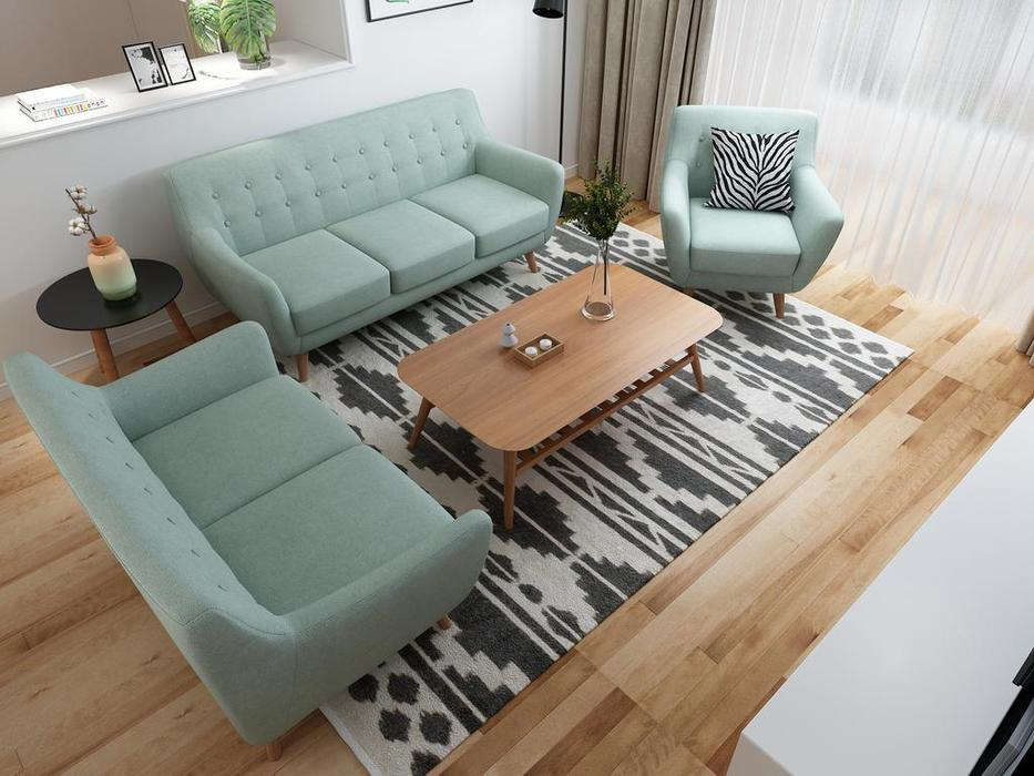 Bradexhome диван 2 местный  (бирюзовый) Picasso