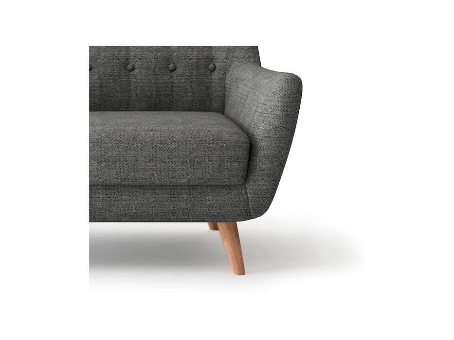 Bradexhome диван 2 местный  (темно-серый) Picasso