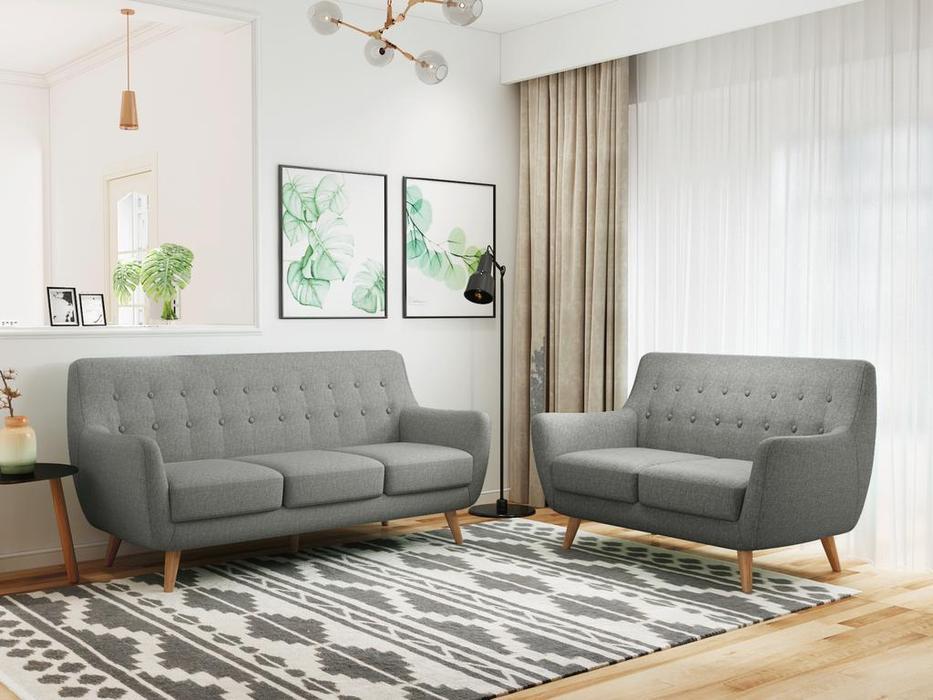 Bradexhome диван 3 местный  (серый) Picasso