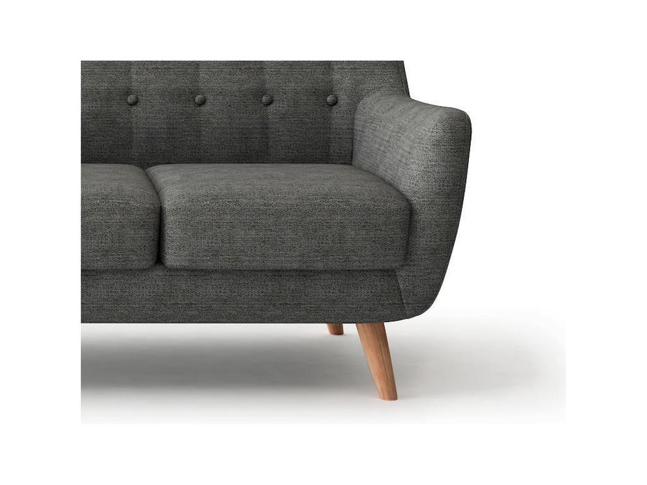 Bradexhome диван 3 местный  (темно-серый) Picasso