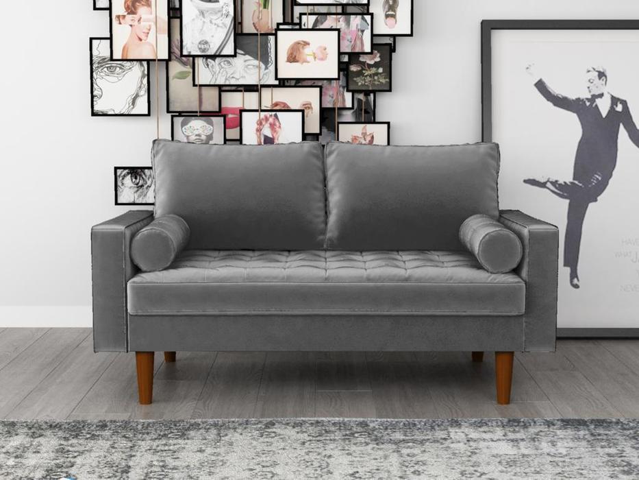Bradexhome диван 2 местный  (серый) Scott