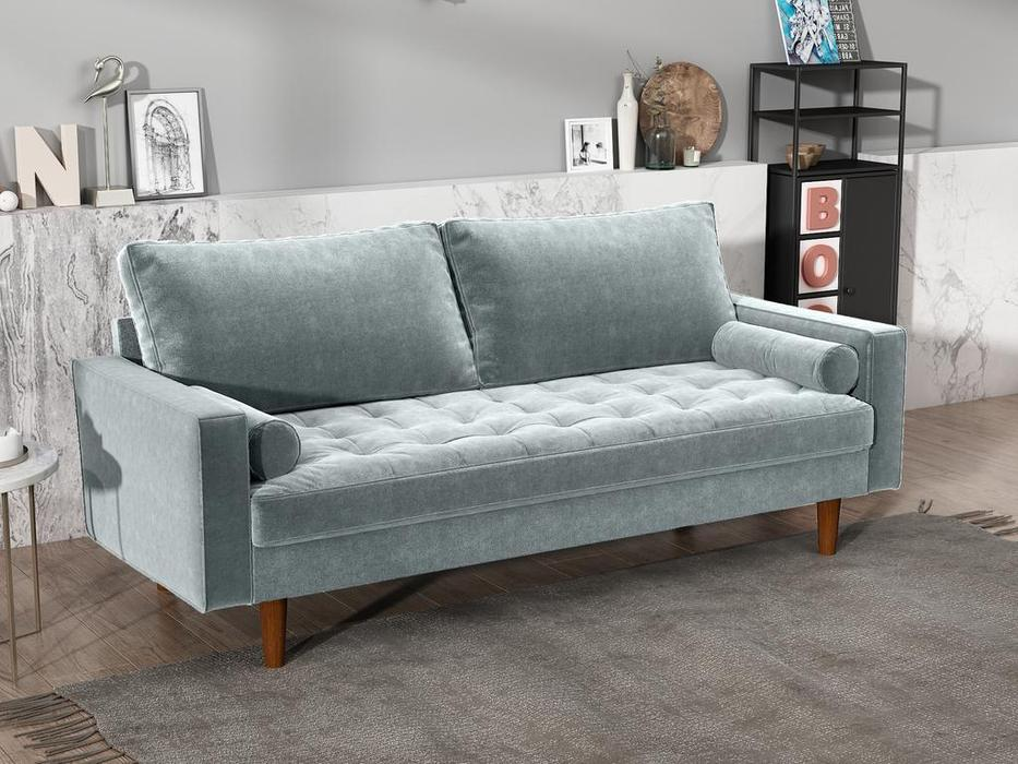 Bradexhome диван 3 местный  (серо-голубой) Scott