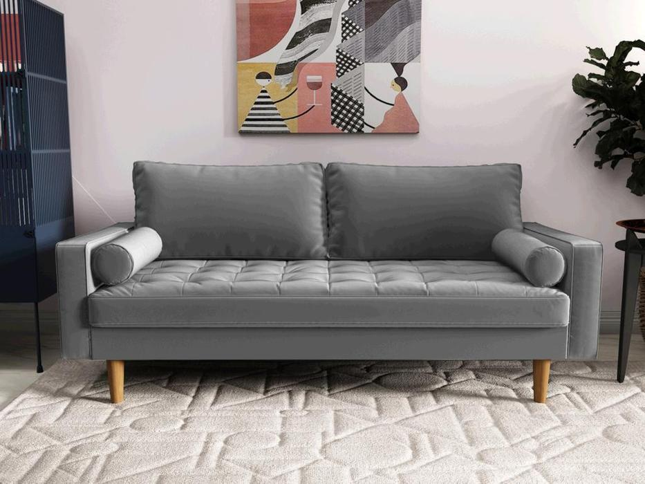 Bradexhome диван 3 местный  (серый) Scott