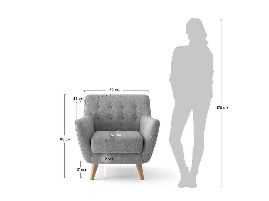 Bradexhome кресло  (бирюзовый) Picasso