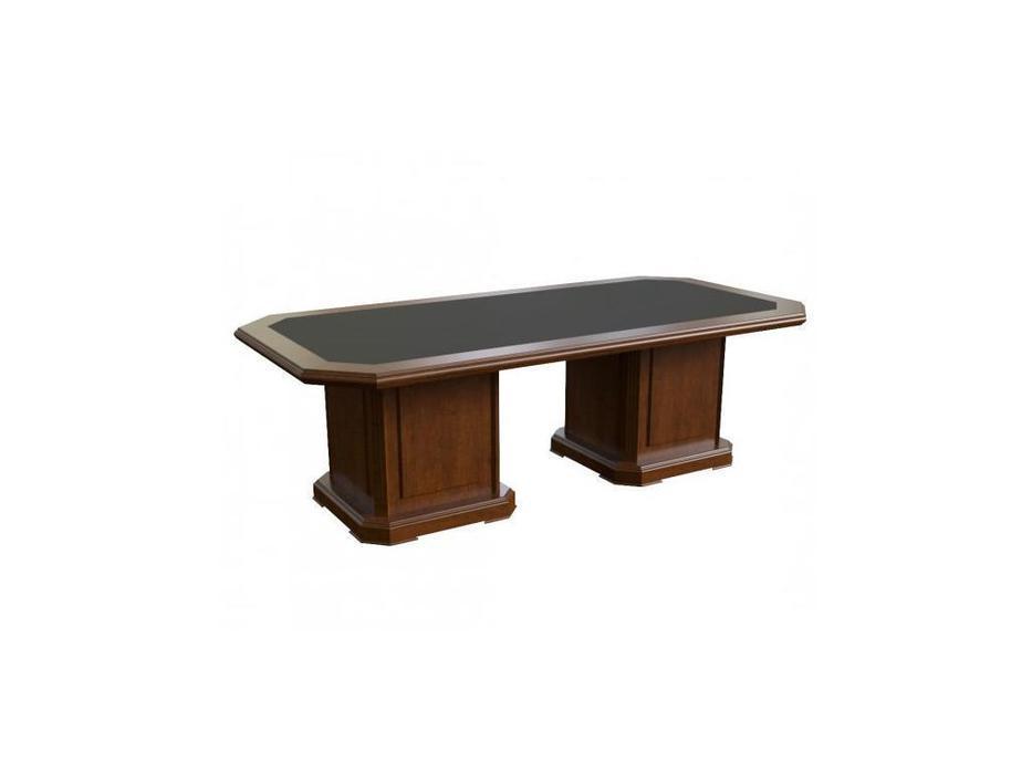 Blue Line стол переговорный  240 (темный орех, кожа) Washington
