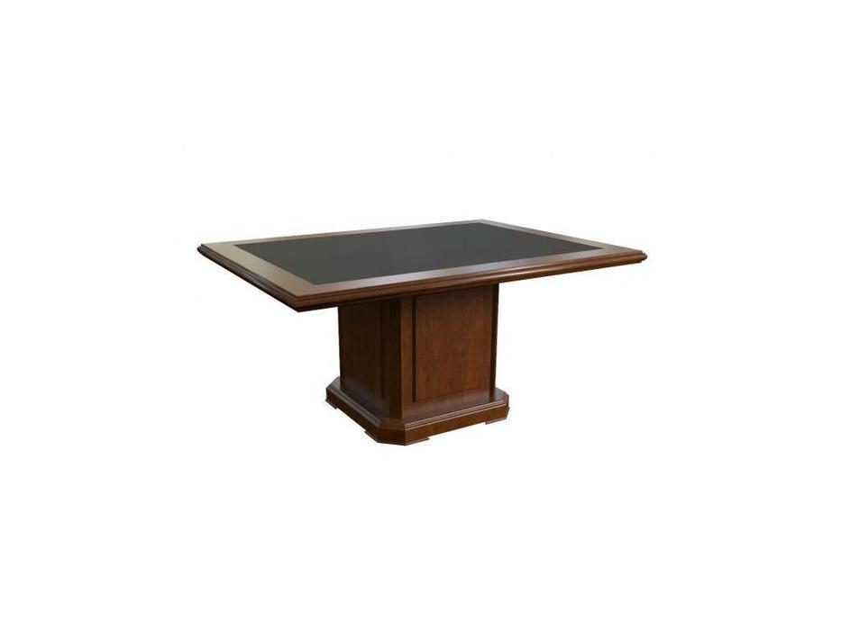 Blue Line стол переговорный 165 (темный орех, кожа) Washington