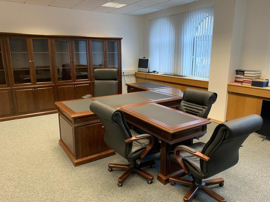 Blue Line шкаф книжный в кабинет руководителя (темный орех) Washington