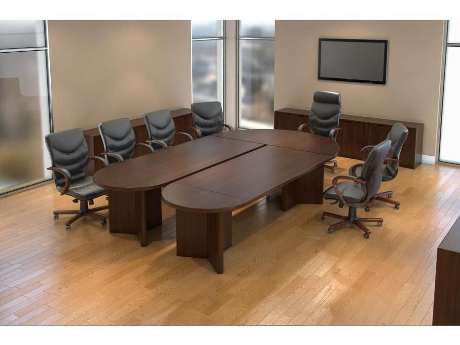 Blue Line стол переговорный наборный (темный орех) Princeton