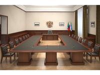 Blue Line кабинет руководителя классика  (темный орех, кожа) Washington
