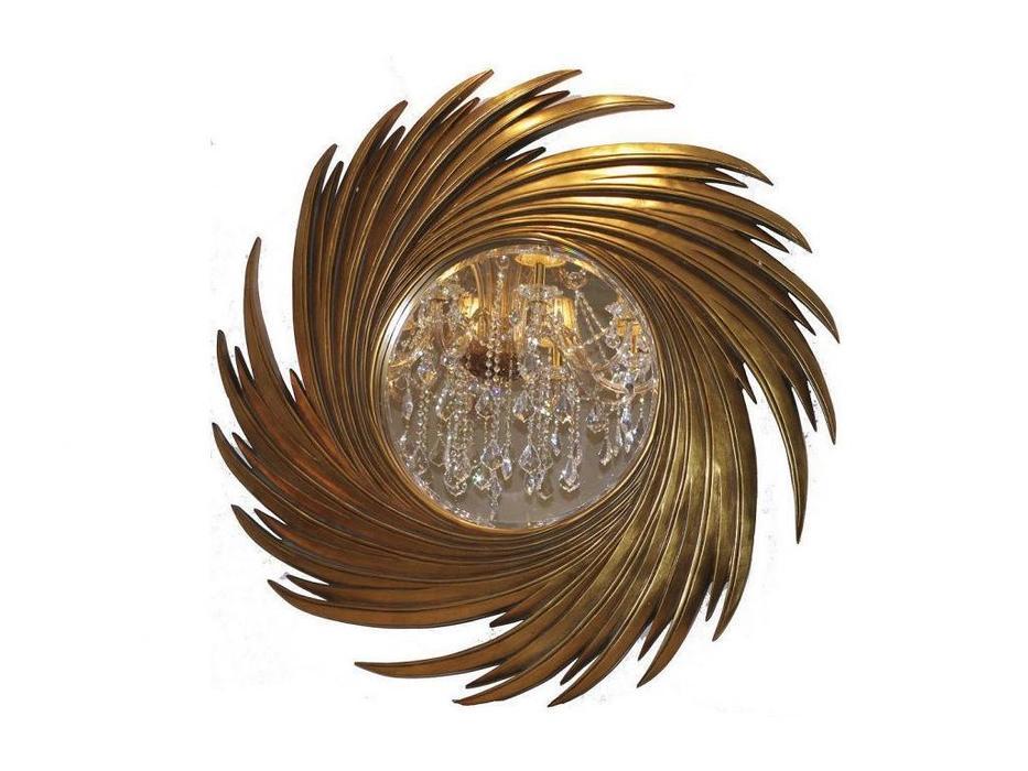 Hermitage зеркало навесное в раме (золото) Свирл