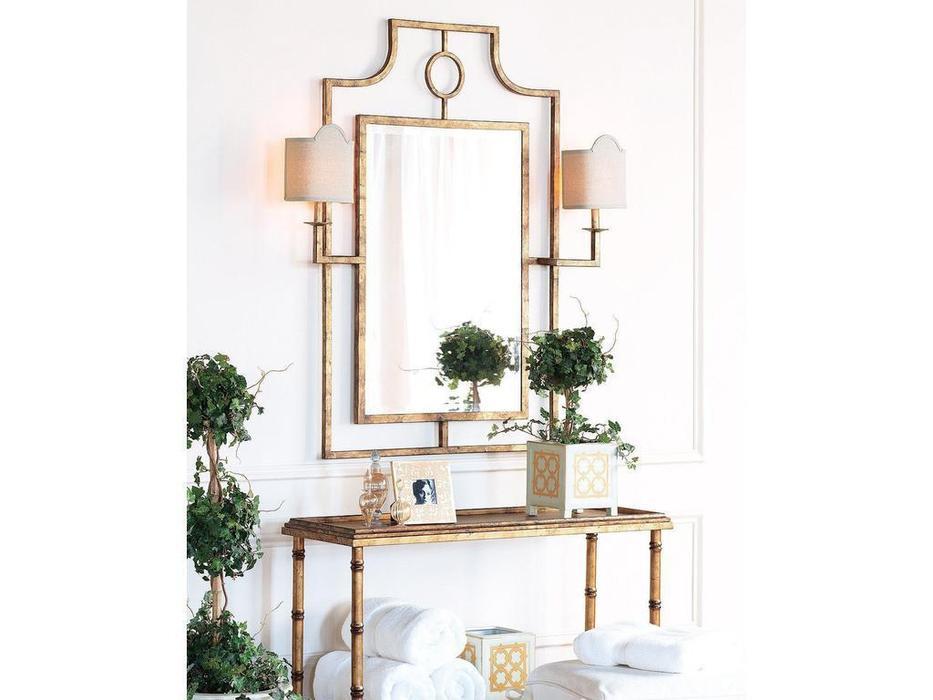 Hermitage зеркало навесное с бра (золото) Эван